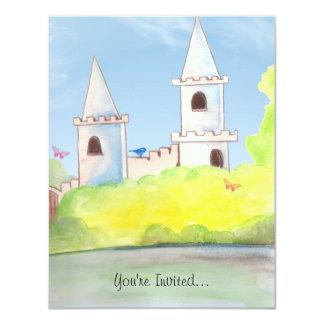 """Magic Castle Watercolor Party Invitation 4.25"""" X 5.5"""" Invitation Card"""
