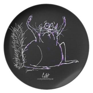 magic cat dinner plate