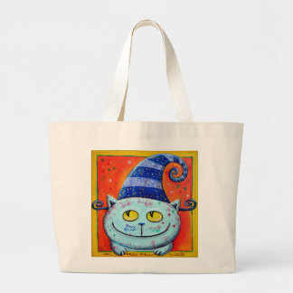 Magic Cat With Fairy Hat Tote Bag
