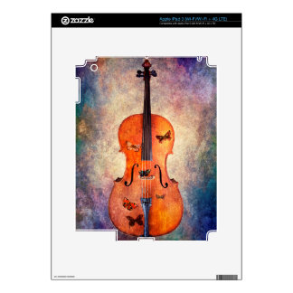 Magic cello with butterflies iPad 3 skins