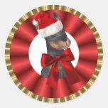 Magic Christmas Santa Animal Sticker