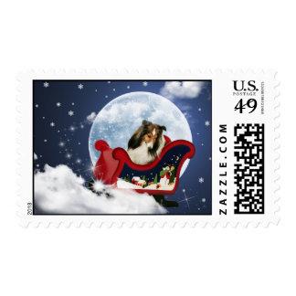 Magic Christmas Sheltie Postage