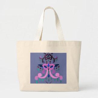 Magic Christmas Tree Purple Stylish Fashion Tote Bags