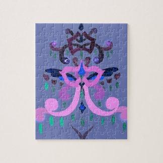 Magic Christmas Tree Purple Stylish Fashion Puzzles