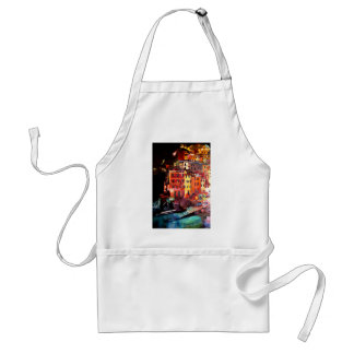 Magic Cinque Terre Night in Riomaggiore Adult Apron