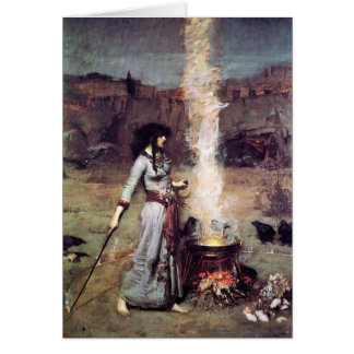 Magic Circle 1886 Waterhouse Greeting Card