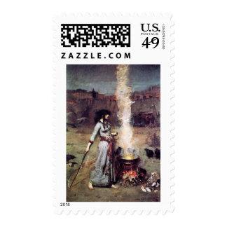 Magic Circle 1886 Waterhouse Postage Stamp