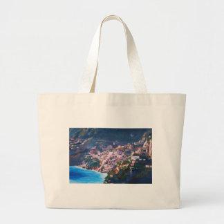 Magic Coastline and Scenery in Amalfi, Italia Bags