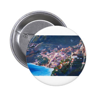 Magic Coastline and Scenery in Amalfi, Italia Pinback Buttons
