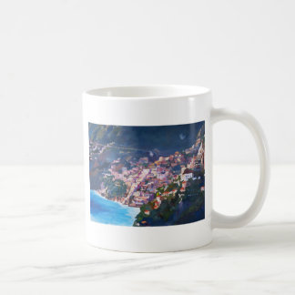 Magic Coastline and Scenery in Amalfi, Italia Coffee Mug