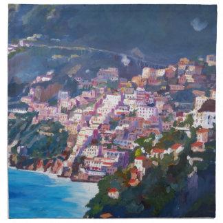Magic Coastline and Scenery in Amalfi, Italia Napkin