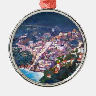 Magic Coastline and Scenery in Amalfi, Italia Christmas Ornament