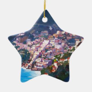 Magic Coastline and Scenery in Amalfi, Italia Ornament