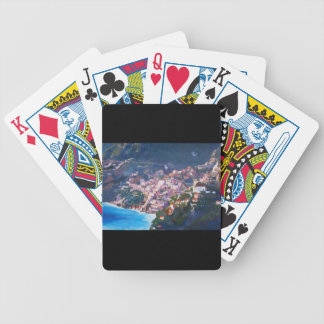 Magic Coastline and Scenery in Amalfi, Italia Bicycle Poker Deck