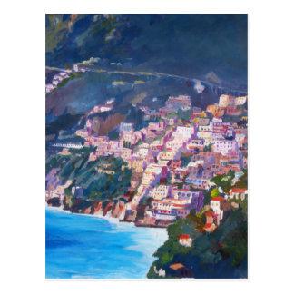 Magic Coastline and Scenery in Amalfi, Italia Postcard