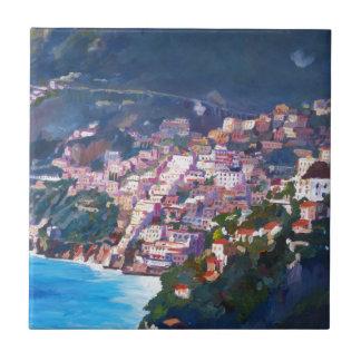 Magic Coastline and Scenery in Amalfi, Italia Tile