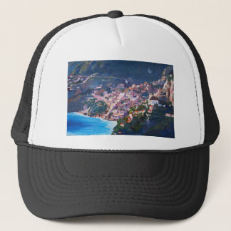 Magic Coastline and Scenery in Amalfi, Italia Trucker Hat
