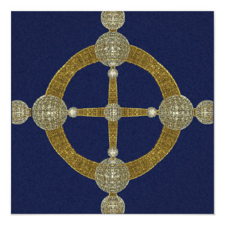 Magic Compass Abstract Art Invitation