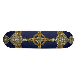 Magic Compass Abstract Art Skateboard