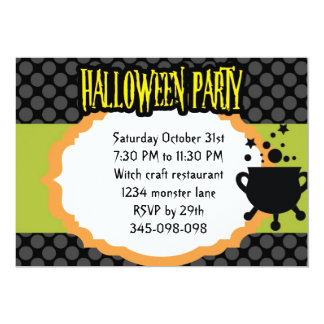 magic couldaron Halloween Party invitation