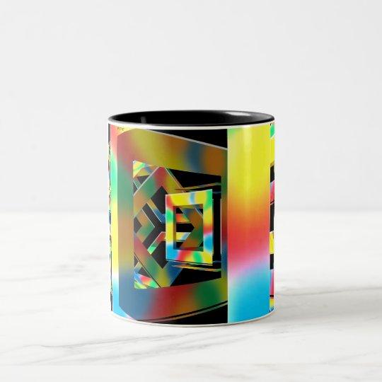 Magic Cubes Two-Tone Coffee Mug