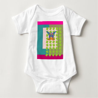 Magic Curtain Butterfly Baby Bodysuit