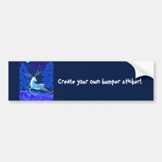 Magic Cute Christmas Deer with bell Bumper Sticker