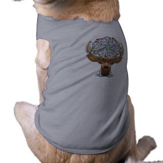 Magic Cute Forest Deer with flourish spring symbol T-Shirt