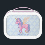 """Magic Cute Pink Unicorn with wings Lunch Box<br><div class=""""desc"""">Magic Unicorn with wings If you didn&#39;t find a product what you want with my design in our store, be free to contact me and I will create it for you. Thank you for your attention to our shop. Making designs is our big love! And we&#39;ll glad to make your...</div>"""