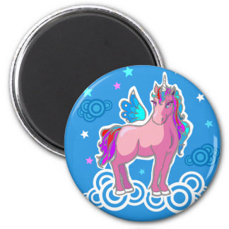 Magic Cute Pink Unicorn with wings Magnet