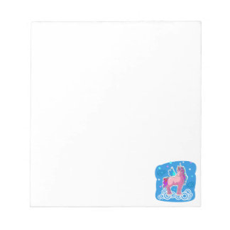 Magic Cute Pink Unicorn with wings Notepad