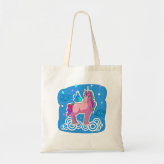 Magic Cute Pink Unicorn with wings Tote Bag