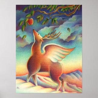 Magic Deer Poster