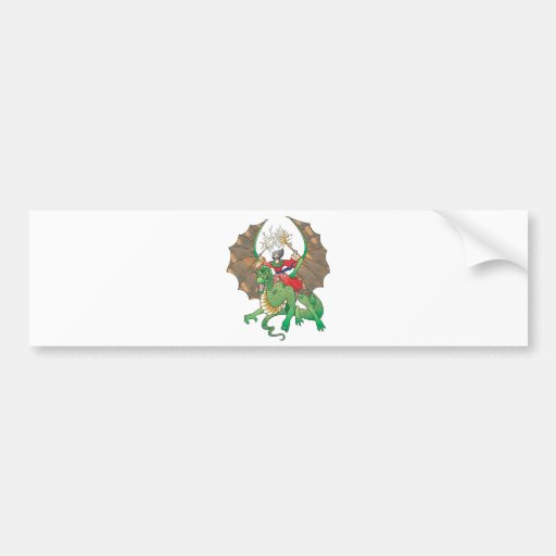 magic dragon sorcerer car bumper sticker