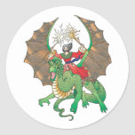magic dragon sorcerer classic round sticker