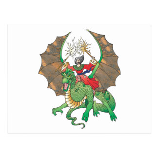 magic dragon sorcerer post cards