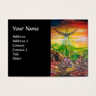 MAGIC DUEL BETWEEN BRADAMANT AND NEGROMANCER,black Business Card