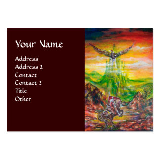 MAGIC DUEL BETWEEN BRADAMANT AND NEGROMANCER BUSINESS CARD TEMPLATE
