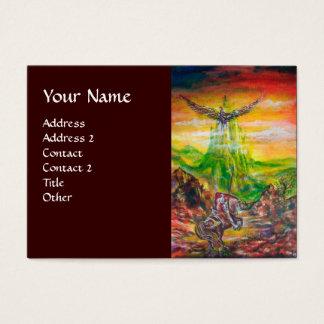 MAGIC DUEL BETWEEN BRADAMANT AND NEGROMANCER BUSINESS CARD