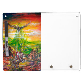 MAGIC DUEL BETWEEN BRADAMANT AND NEGROMANCER DRY ERASE BOARD WITH KEYCHAIN HOLDER