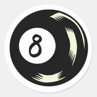 Magic Eight Ball Classic Round Sticker