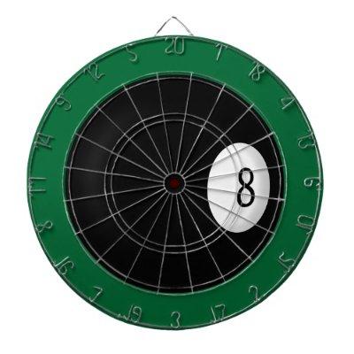 Magic Eight Ball Custom Pool Game Dartboard