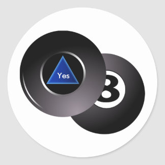 Magic Eight Ball Sticker