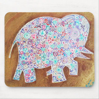 Magic elephant on stone wall - Magic Mousepad