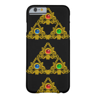 MAGIC ELFIC TALISMAN,BLACK GOLD TRIANGLE,GEMSTONES BARELY THERE iPhone 6 CASE