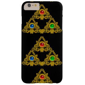 MAGIC ELFIC TALISMAN,BLACK GOLD TRIANGLE,GEMSTONES BARELY THERE iPhone 6 PLUS CASE