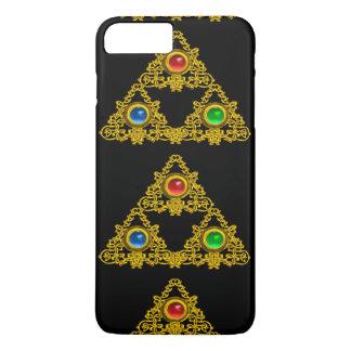 MAGIC ELFIC TALISMAN,BLACK GOLD TRIANGLE,GEMSTONES iPhone 7 PLUS CASE