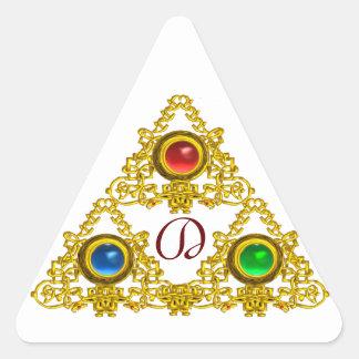MAGIC ELFIC TALISMAN /GOLD TRIANGLE MONOGRAM TRIANGLE STICKER