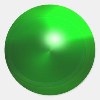 MAGIC EMERALD , bright vibrant green Classic Round Sticker