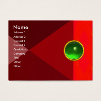 MAGIC EMERALD  , bright vibrant red pink green Business Card